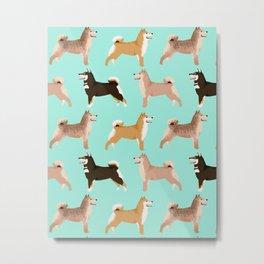 Shiba Inu dog breed pet portrait unique pet friendly must have gifts accessories decor dogs pets Metal Print