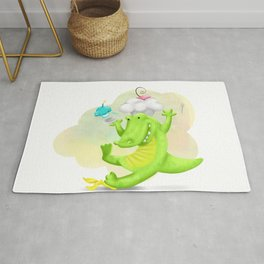 Slippery gator Rug
