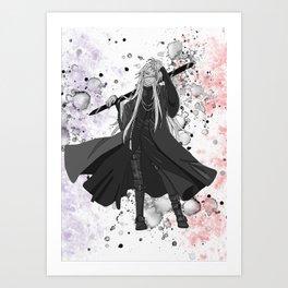 Black Butler Kuroshitsuji Undertaker Art Print