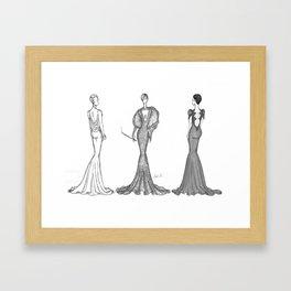 Trio Ladies Framed Art Print