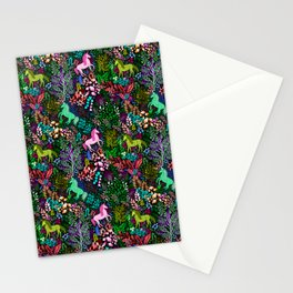 Magical Rainbow Unicorn Forest Stationery Cards