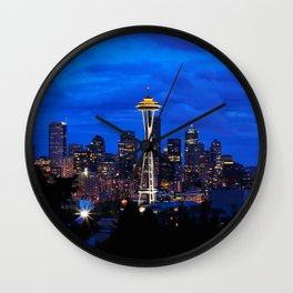 Seattle Skyline and Space Needle Wall Clock