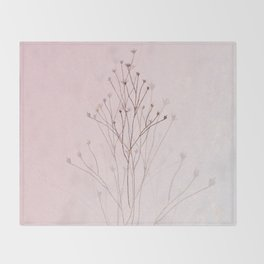 Rose Gold Twigs Throw Blanket