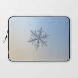 Real snowflake macro photo - Silverware Laptop Sleeve