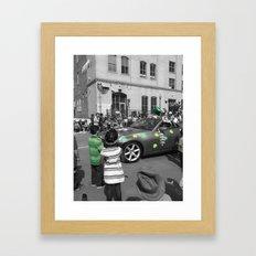 Splash of Green Framed Art Print