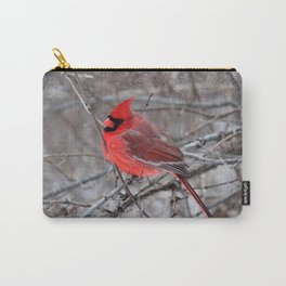 The Snow Cardinal Carry-All Pouch