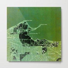 Old Green Map Madison year 1959 Metal Print