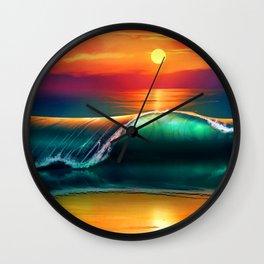 Beauty wave I Wall Clock