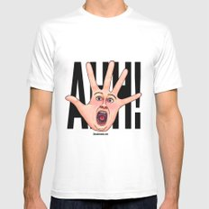 Five Fingered Face MEDIUM Mens Fitted Tee White