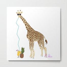 Cool Giraffe Metal Print