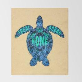 ocean omega Throw Blanket