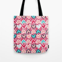 valentine Tote Bags featuring Valentine by Art Tree Designs