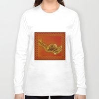 ashton irwin Long Sleeve T-shirts featuring Influenza C Tapestry by Alhan Irwin by Microbioart