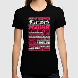 Sexy Women Are Born In March T-shirt