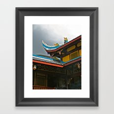Temple Rooftop Framed Art Print