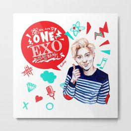 EXO WE ARE ONE! Suho Version Metal Print