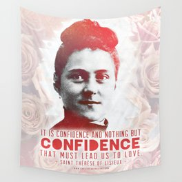 "St. Therese ""CONFIDENCE"" Wall Tapestry"