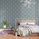 PUG FLORAL DAMASK by huebucket