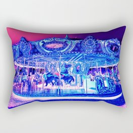 Carousel Merry-Go-Round Pink Purple Rectangular Pillow