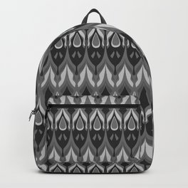 Grey ornament . Backpack