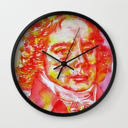 TALLEYRAND - watercolor portrait.2 Wall Clock