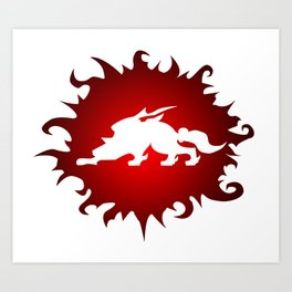 Amaterasu Logo- White Art Print