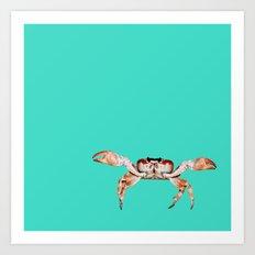 Lonely Crab - Aqua Marine  Art Print