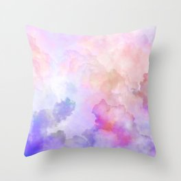 Pastel Clouds-Pink and Blue #homedecor Throw Pillow