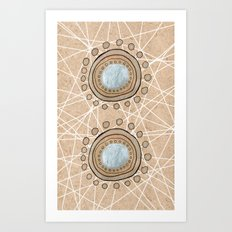 Meeting Circles Art Print