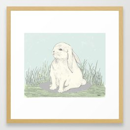 bunny III (mirror) Framed Art Print