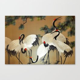 Colorful Painting of egrets Canvas Print