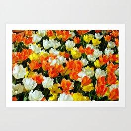 White Orange and Yellow, Oh My Art Print