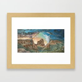 Colorado National Monument Polyscape Framed Art Print