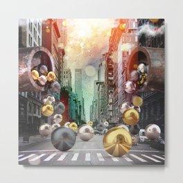 New York City Spill Metal Print