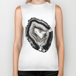 Agate Rose Gold Glitter Glam #1 #gem #decor #art #society6 Biker Tank