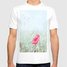 Thoughtful Poppy Mens Fitted Tee White MEDIUM