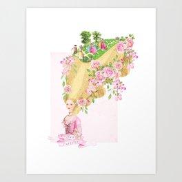 Marie Antoinette Coiffure Parterre Art Print