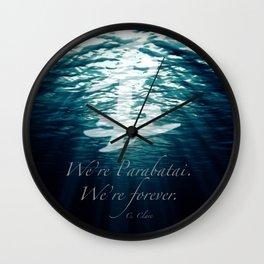 Shadow - Forever parabatai Wall Clock