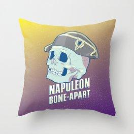 Skullture: Napoleon Bone-Apart Throw Pillow