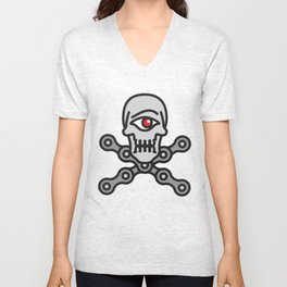 Cyclo-Pirate Unisex V-Neck