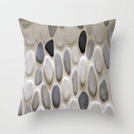 Smooth Rocks Throw Pillow