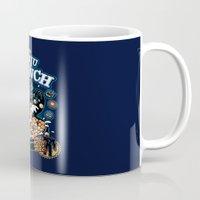 kaiju Mugs featuring Kaiju Crunch by Matt Dearden
