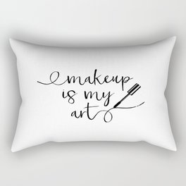 Mascara Makeup Makeup Print Vanity Print Bathroom Art Modern Home Decor Gift Women Black mascara Rectangular Pillow