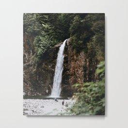 Waterfall XXV / Franklin Falls, Washington Metal Print