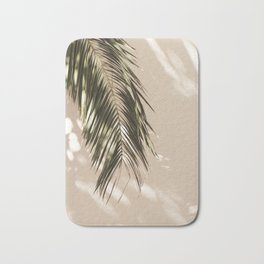 tropical palm leaves vi Bath Mat
