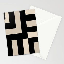 Black and Tan Stationery Cards
