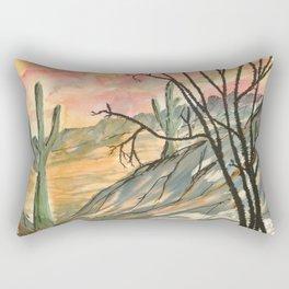 Southwestern Art Desert Painting Rectangular Pillow