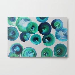 Ocean swirls Metal Print