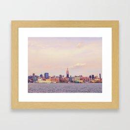 Perfect Day - New York City Skyline Framed Art Print