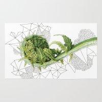 fern Area & Throw Rugs featuring Fern by Line Holtegaard